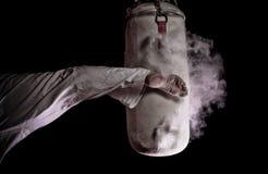 Karate ronde schop Royalty-vrije Stock Afbeeldingen