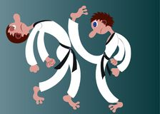 Karate ruchy 3 ilustracja wektor