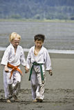 Karate - School of Character and friendship Royalty Free Stock Photos
