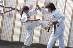 Karate Self Defense Royalty Free Stock Images