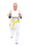 Karate Senior man Royalty Free Stock Photo