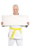 Karate Senior man Stock Image