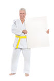 Karate Senior man Stock Photography