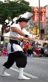 Karate Sensei Ausführung Lizenzfreies Stockbild