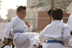 Karate Sparring lizenzfreie stockfotografie