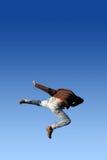 Karate-Sprung Lizenzfreie Stockfotos
