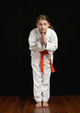 Karate student Royalty Free Stock Images