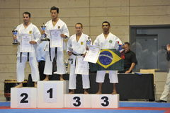Karate, taza principal europea, ganadores de Kata Fotos de archivo