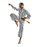 Karate teenagers kid Stock Image