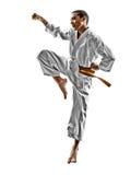 Karate teenagers kid Stock Image