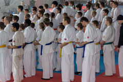 Karate tournament. 15 February 2014. Ukraine, Kriviy Rig royalty free stock photography