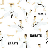 Karate vastgesteld patroon stock illustratie