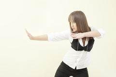 Karate woman Royalty Free Stock Photography