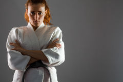Karate Woman Stock Photo