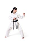 Karate woman posing Stock Photos
