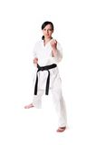 Karate woman posing Stock Photography