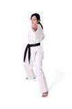 Karate woman posing Royalty Free Stock Image