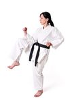 Karate woman posing Royalty Free Stock Photos