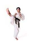 Karate woman posing Stock Photography
