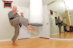 Karate Workout Royalty Free Stock Image