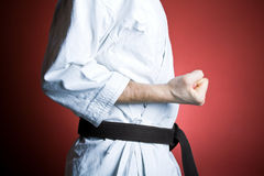 Karate workout, sport and fitness at gym Stock Photos