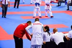 Karate 1 - Youth League Sofia 2018, May 25-27. Sofia 26 may 2018 stock photo