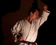 karatedeltagareskugga Royaltyfri Fotografi