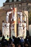 Karatedemonstration am Themse-Festival, London Lizenzfreies Stockfoto