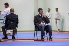 Karateereignis, feierliche Meisterschaft der Vereinigung von Karate tun Porto Lizenzfreies Stockfoto