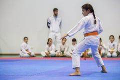Karateereignis, feierliche Meisterschaft der Vereinigung von Karate tun Porto Lizenzfreie Stockfotos