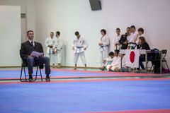 Karateereignis, feierliche Meisterschaft der Vereinigung von Karate tun Porto Lizenzfreies Stockbild