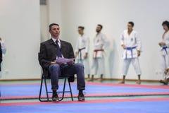 Karateereignis, feierliche Meisterschaft der Vereinigung von Karate tun Porto Lizenzfreie Stockfotografie