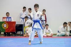 Karateereignis, feierliche Meisterschaft der Vereinigung von Karate tun Porto Stockfotografie