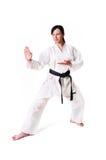 Karatefrauenaufstellung Lizenzfreies Stockbild