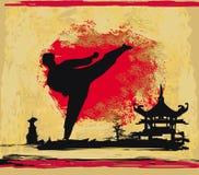 KarateGrungebakgrund Arkivfoton