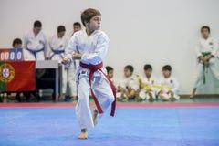 Karatehändelsen, den celebratory mästerskapet av anslutningen av karate gör Porto Arkivbild