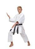 Karatejongen Royalty-vrije Stock Fotografie