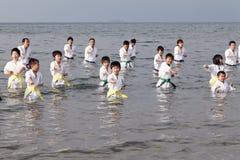 Karatejungen Stockfotografie