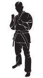 Karatekämpe Arkivfoto