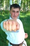 The karateka. Stock Photo