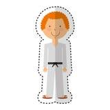 Karateka avatar character icon Royalty Free Stock Images
