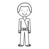 Karateka avatar character icon Royalty Free Stock Photography