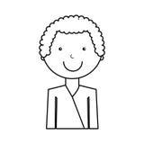 Karateka avatar character icon Stock Image