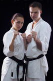 Karateka couple Stock Photo