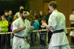 Karateka deux Photo libre de droits