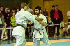 Karateka deux Photos stock