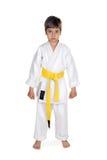 Karateka do menino Fotografia de Stock Royalty Free