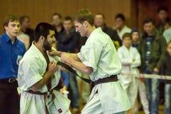 Karateka zwei Stockbild