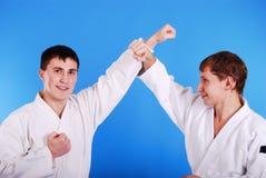 karatekas två Fotografering för Bildbyråer