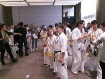 Karatekinder lizenzfreie stockfotografie